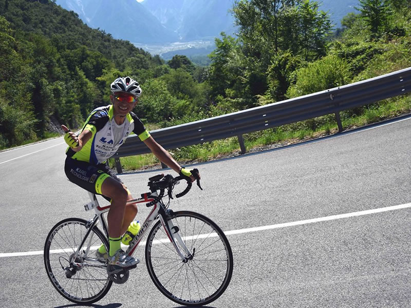 Stefano Caredda alla D+ Ultracycling di Gemona